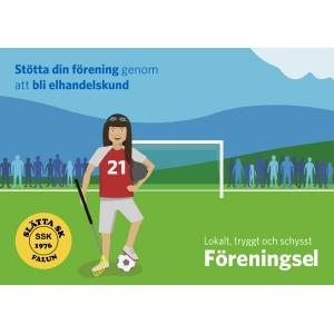Välj elavtal via falu energi och vatten och stöd Slätta SK